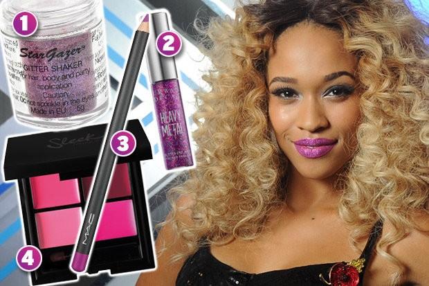 X Factor Pink Glitter lips